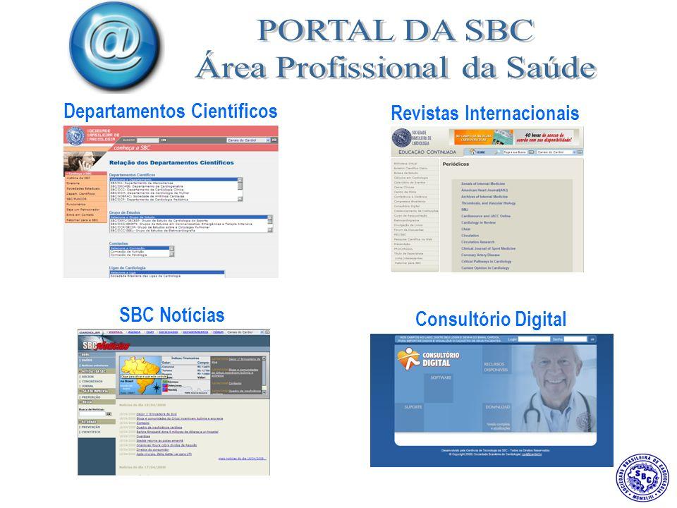 Departamentos Científicos SBC Notícias Revistas Internacionais Consultório Digital