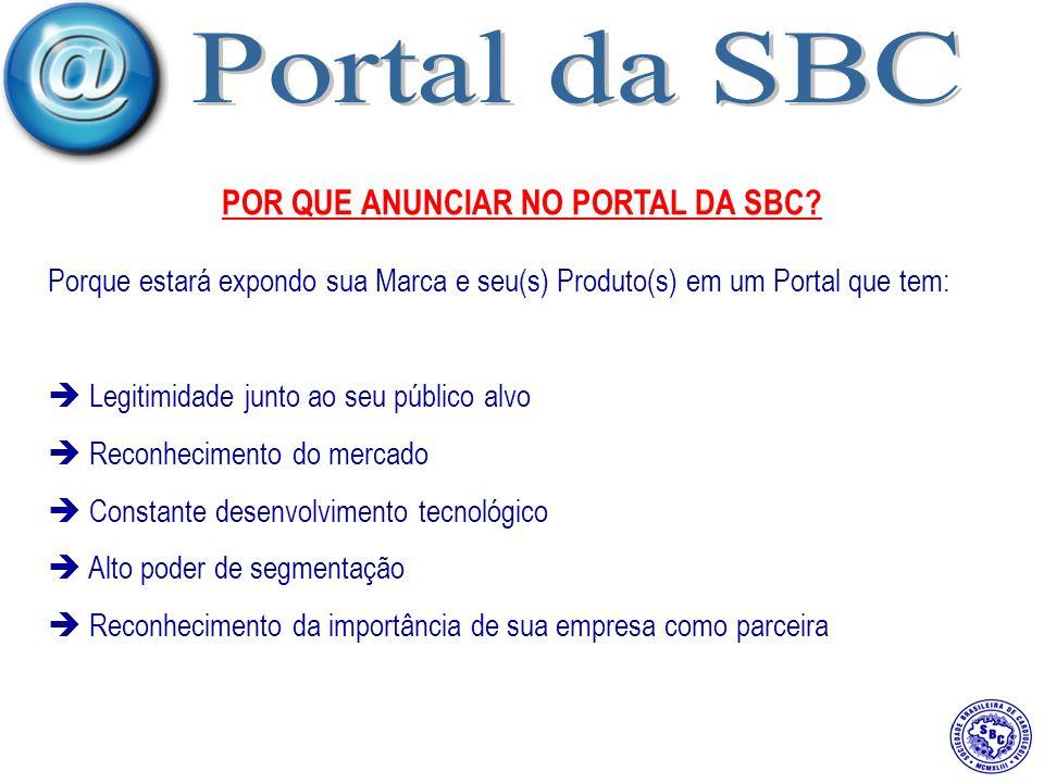 POR QUE ANUNCIAR NO PORTAL DA SBC.