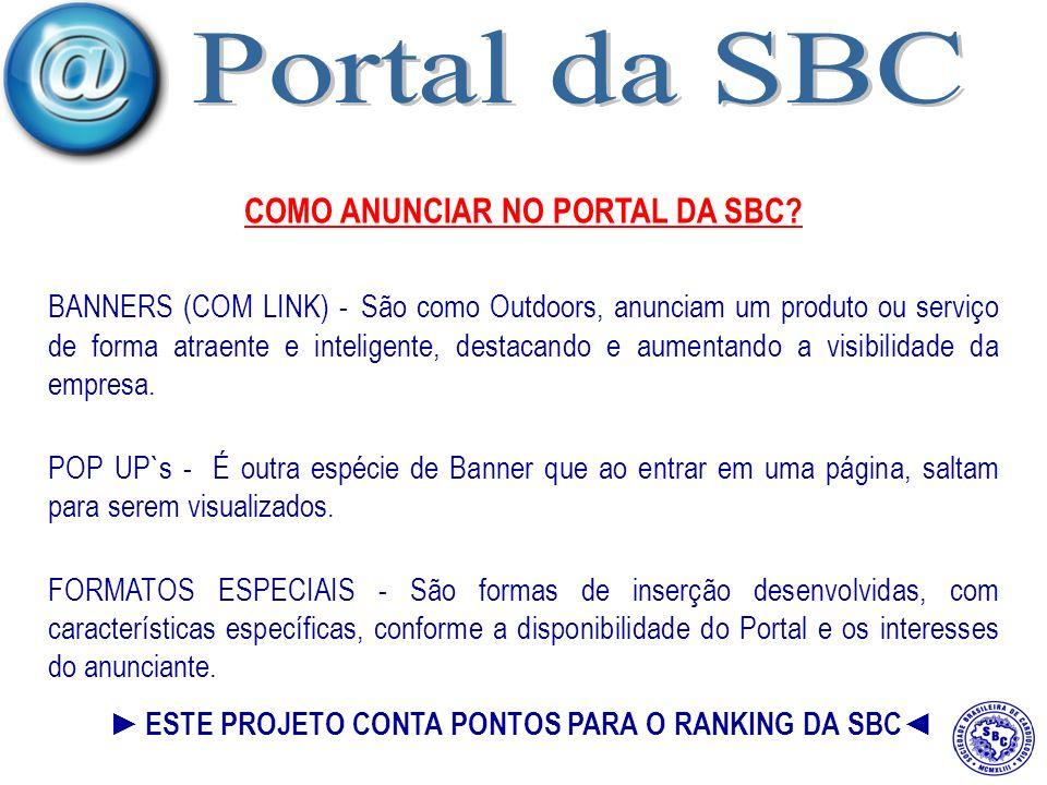 COMO ANUNCIAR NO PORTAL DA SBC.