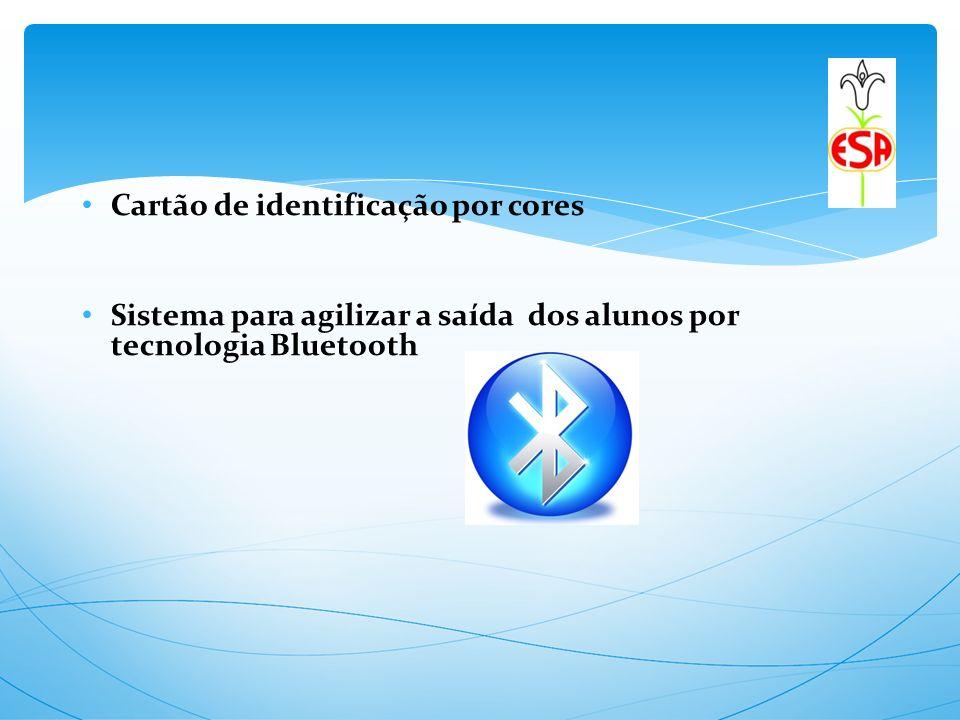 Cartão de identificação por cores Sistema para agilizar a saída dos alunos por tecnologia Bluetooth