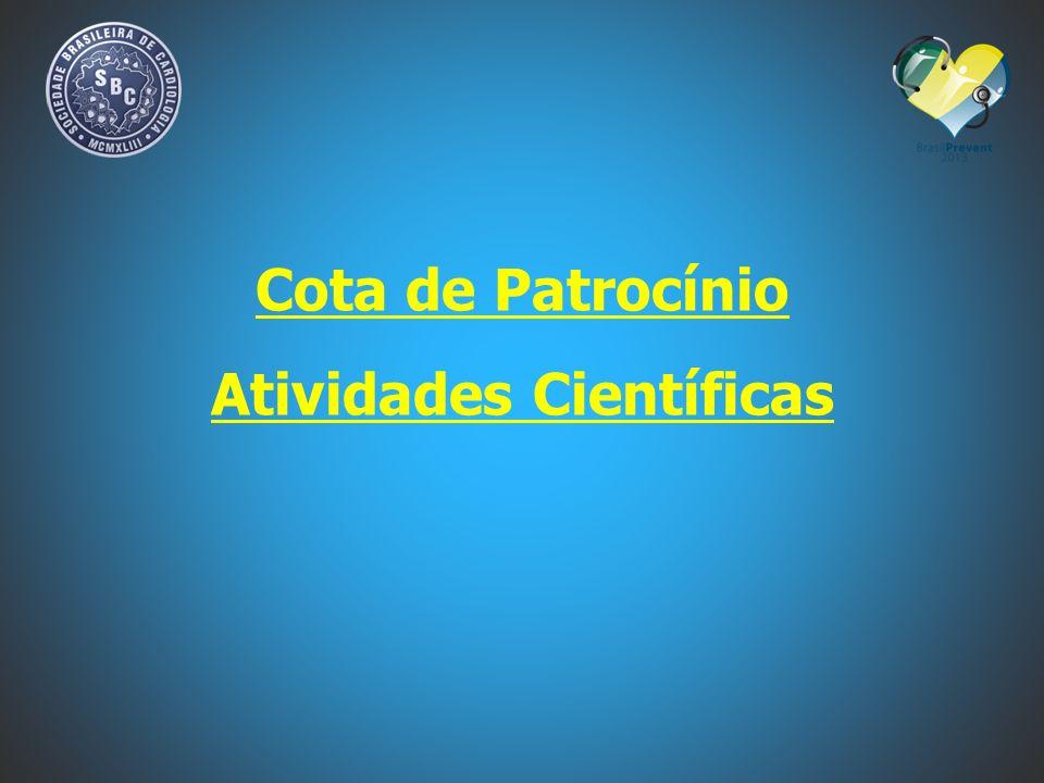 Cota de Patrocínio Atividades Científicas