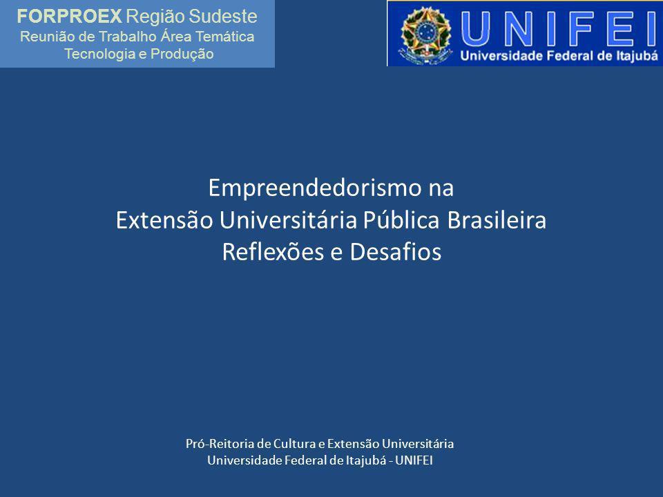 Empreendedorismo na Extensão Universitária Pública Brasileira Reflexões e Desafios Pró-Reitoria de Cultura e Extensão Universitária Universidade Feder