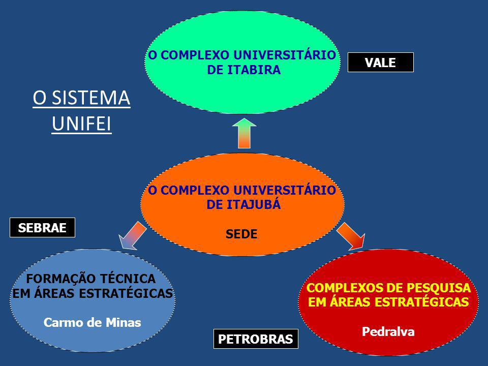 SEBRAE O SISTEMA UNIFEI O COMPLEXO UNIVERSITÁRIO DE ITABIRA O COMPLEXO UNIVERSITÁRIO DE ITAJUBÁ SEDE FORMAÇÃO TÉCNICA EM ÁREAS ESTRATÉGICAS Carmo de M