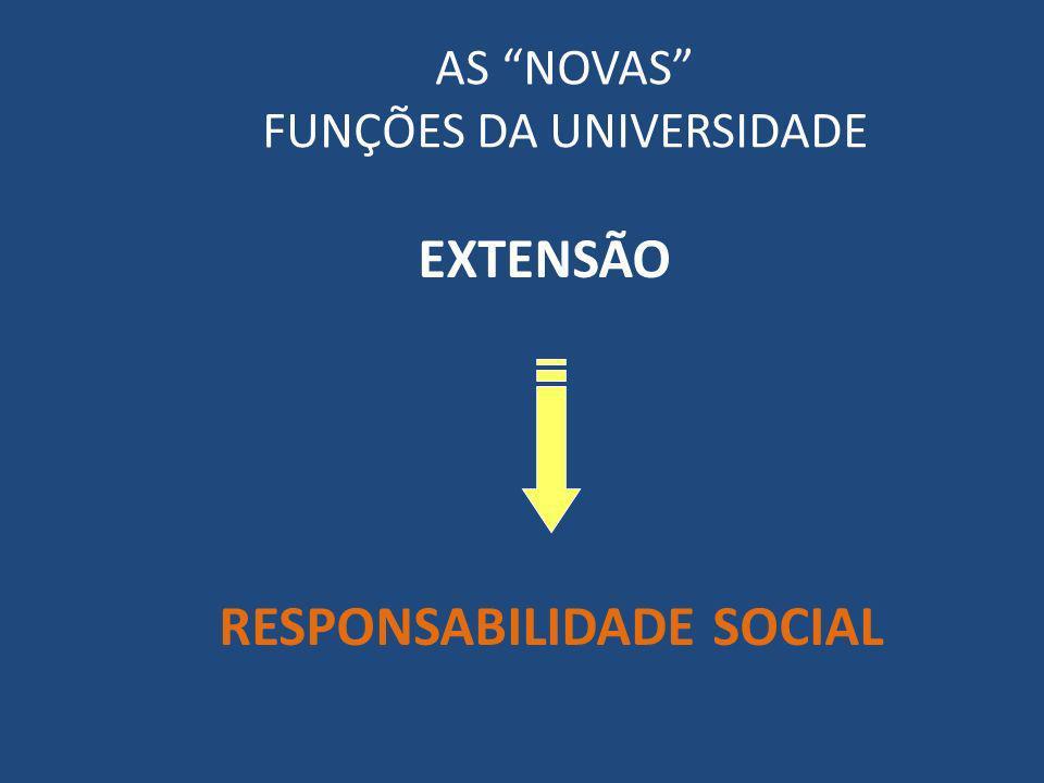 AS NOVAS FUNÇÕES DA UNIVERSIDADE EXTENSÃO RESPONSABILIDADE SOCIAL