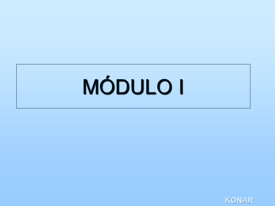 KONAR MÓDULO I