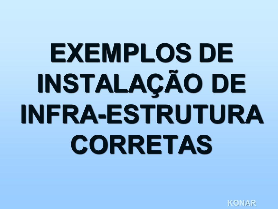 EXEMPLOS DE INSTALAÇÃO DE INFRA-ESTRUTURA CORRETAS