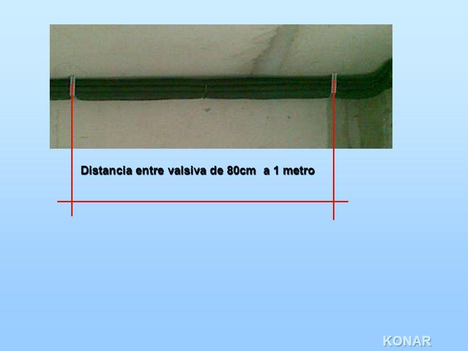 KONAR Distancia entre valsiva de 80cm a 1 metro
