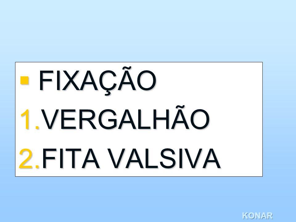 KONAR FIXAÇÃO FIXAÇÃO 1.VERGALHÃO 2.FITA VALSIVA