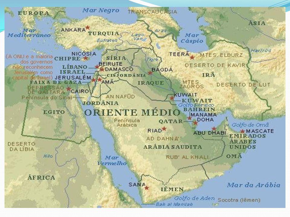 O Oriente Médio é muito mais do que uma expressão cartográfica; Estende-se da Turquia a oeste, até o Afeganistão a leste; Dos mares Negro e Cáspio ao Oceano Índico ao Sul; Do Mar Vermelho ao Golfo Pérsico.