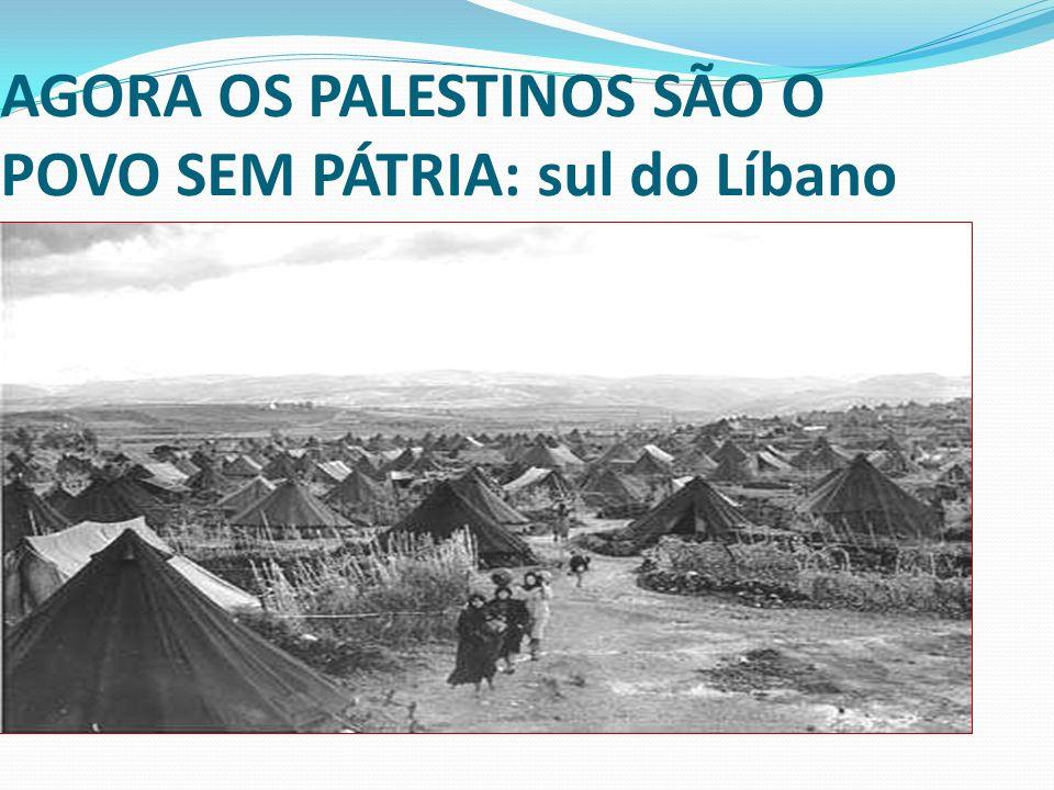 AGORA OS PALESTINOS SÃO O POVO SEM PÁTRIA: sul do Líbano
