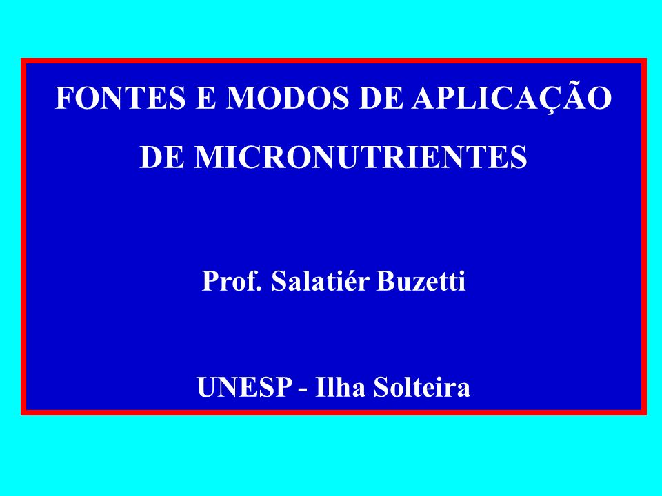 Fertilizantes com micronutrientes