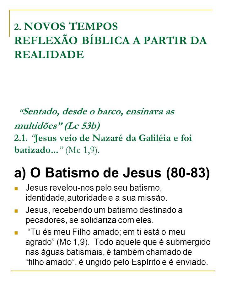 2. NOVOS TEMPOS REFLEXÃO BÍBLICA A PARTIR DA REALIDADE Sentado, desde o barco, ensinava as multidões (Lc 53b) 2.1. Jesus veio de Nazaré da Galiléia e
