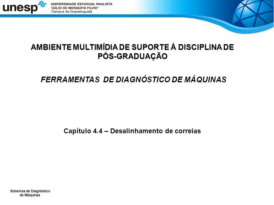 Sistemas de Diagnóstico de Máquinas AMBIENTE MULTIMÍDIA DE SUPORTE À DISCIPLINA DE PÓS-GRADUAÇÃO FERRAMENTAS DE DIAGNÓSTICO DE MÁQUINAS Capítulo 4.4 – Desalinhamento de correias