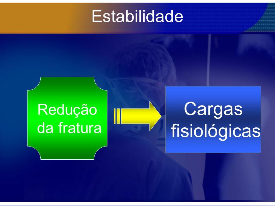 Estabilidade Redução da fratura Cargas fisiológicas