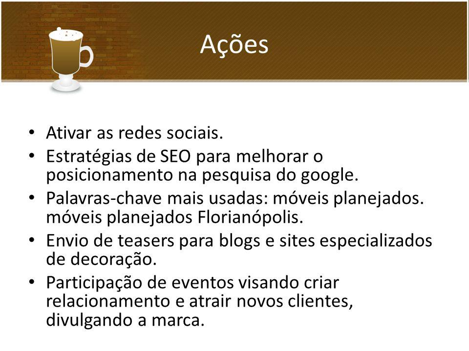Ações Ativar as redes sociais.