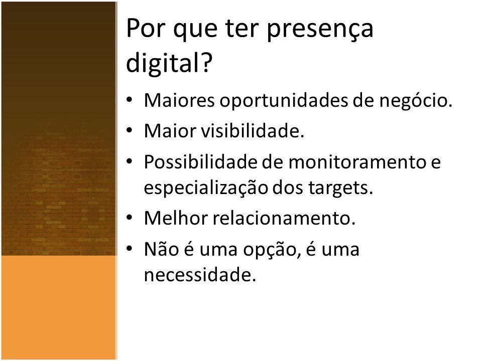 Por que ter presença digital. Maiores oportunidades de negócio.