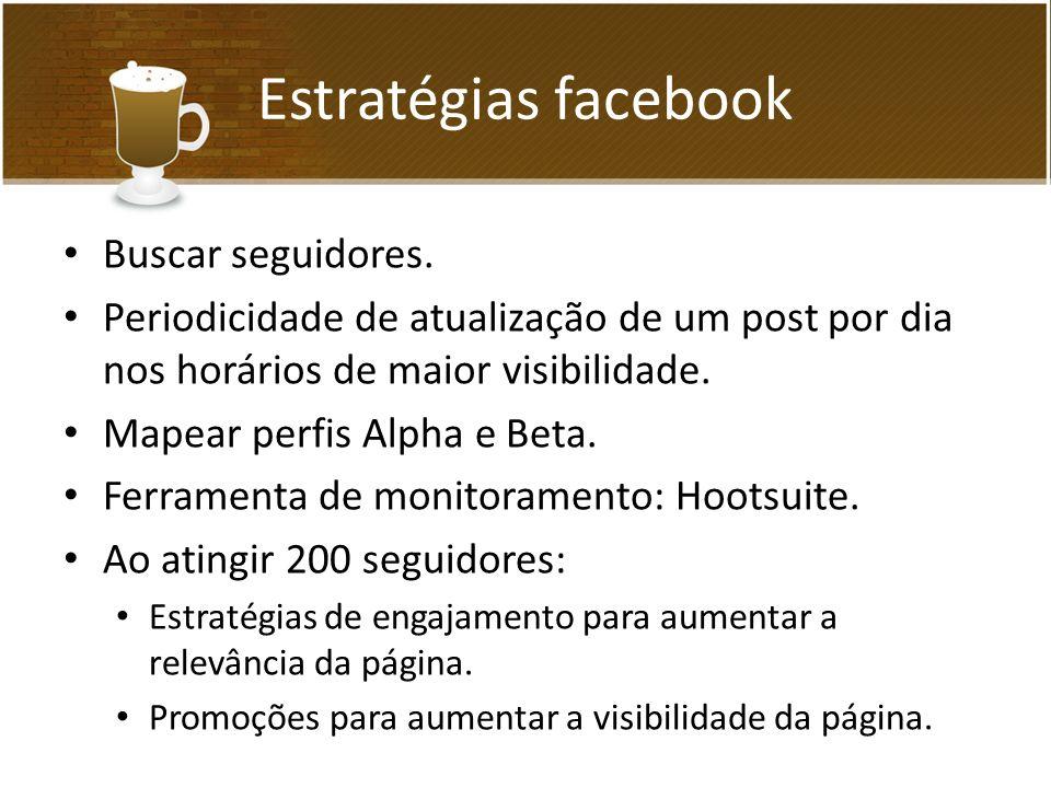 Estratégias facebook Buscar seguidores.