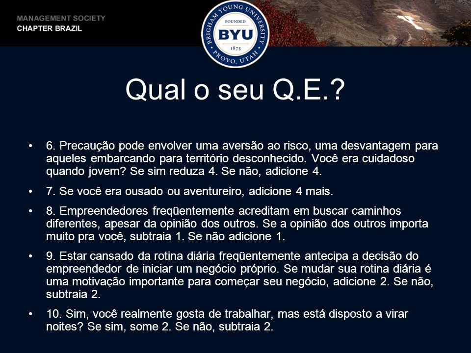 Qual o seu Q.E..11.