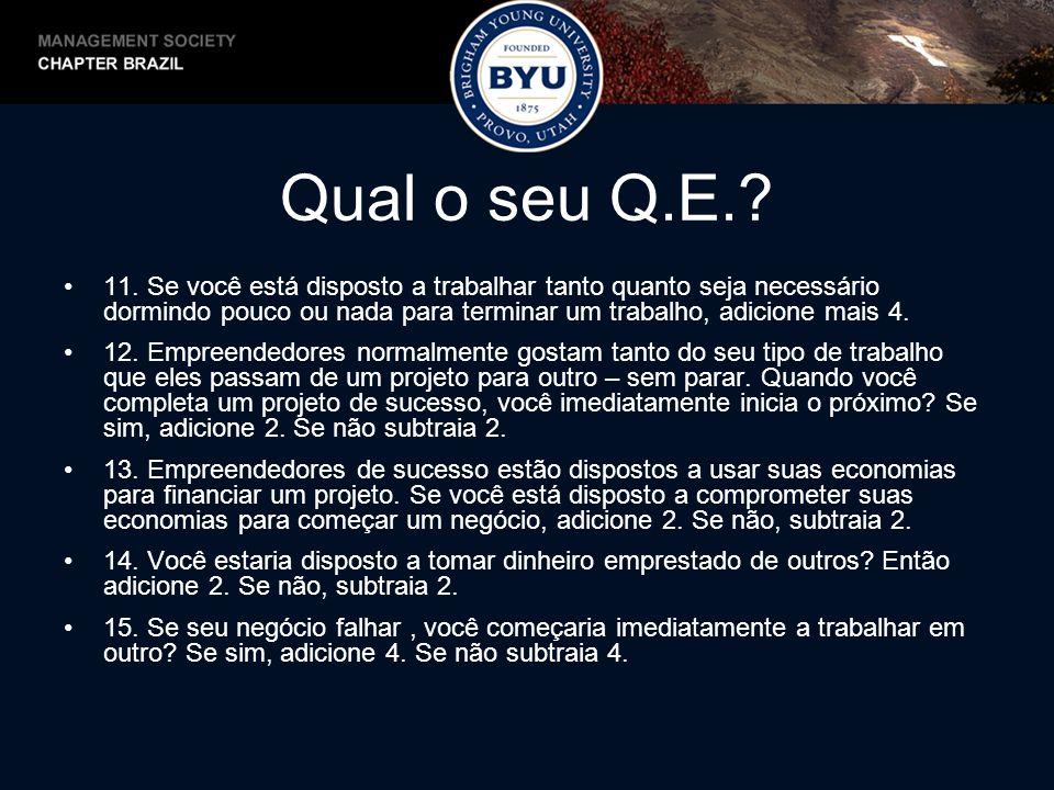 Qual o seu Q.E..16.