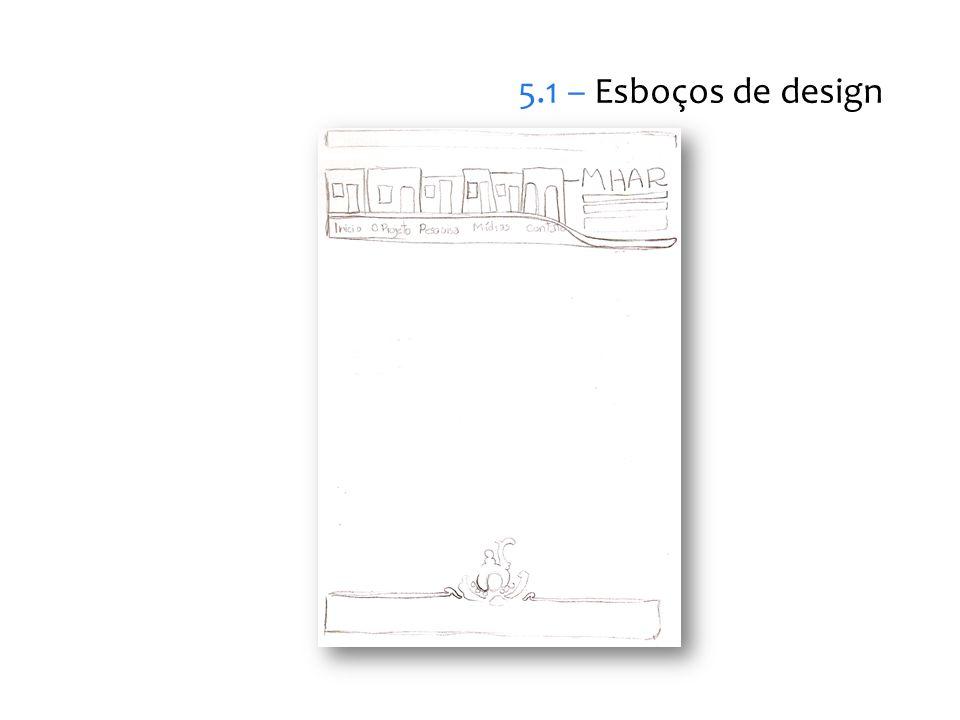 5.1 – Esboços de design