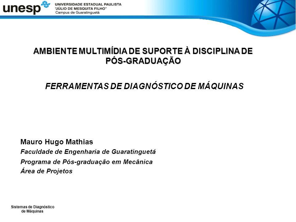 Sistemas de Diagnóstico de Máquinas AMBIENTE MULTIMÍDIA DE SUPORTE À DISCIPLINA DE PÓS-GRADUAÇÃO FERRAMENTAS DE DIAGNÓSTICO DE MÁQUINAS Mauro Hugo Mat