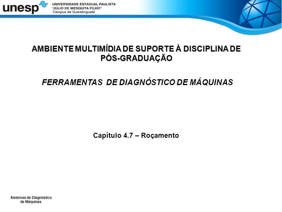 Sistemas de Diagnóstico de Máquinas AMBIENTE MULTIMÍDIA DE SUPORTE À DISCIPLINA DE PÓS-GRADUAÇÃO FERRAMENTAS DE DIAGNÓSTICO DE MÁQUINAS Capítulo 4.7 –