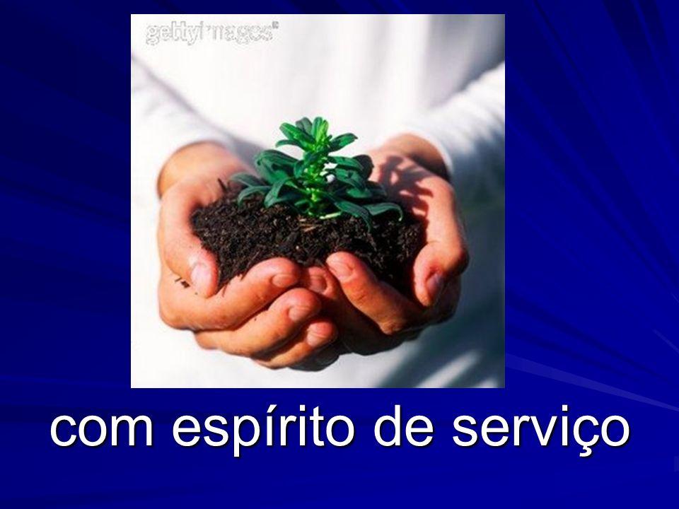 com espírito de serviço
