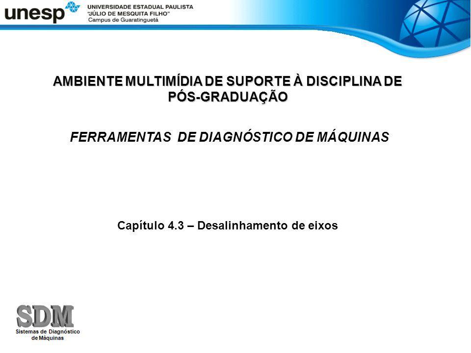 AMBIENTE MULTIMÍDIA DE SUPORTE À DISCIPLINA DE PÓS-GRADUAÇÃO FERRAMENTAS DE DIAGNÓSTICO DE MÁQUINAS Capítulo 4.3 – Desalinhamento de eixos