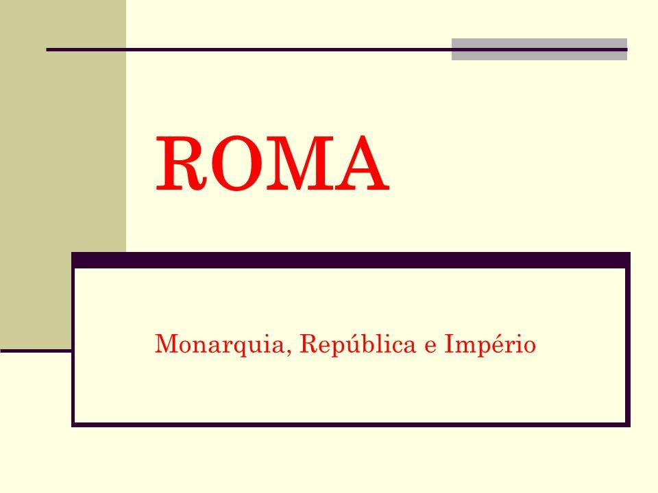 ROMA Monarquia, República e Império