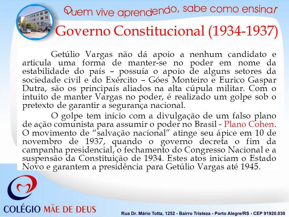 Getúlio Vargas não dá apoio a nenhum candidato e articula uma forma de manter-se no poder em nome da estabilidade do país – possuía o apoio de alguns