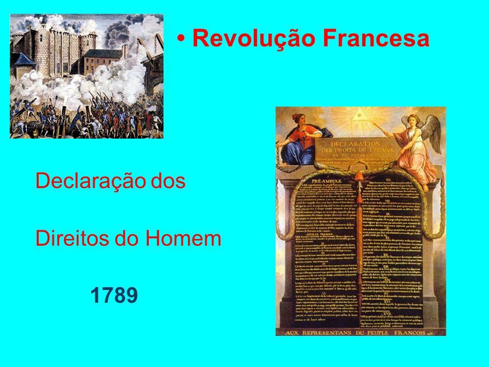 Revolução Francesa Declaração dos Direitos do Homem 1789