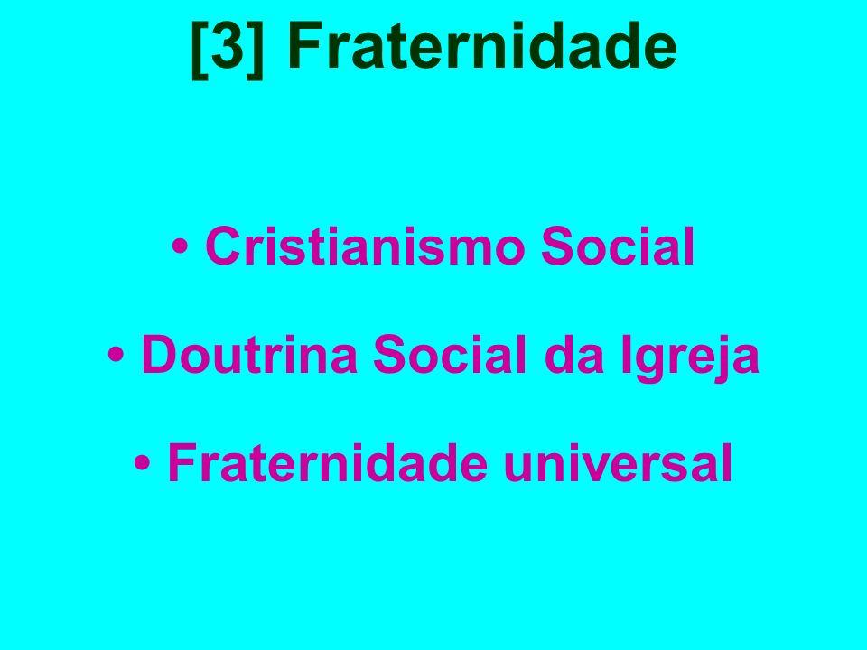 [3] Fraternidade Cristianismo Social Doutrina Social da Igreja Fraternidade universal