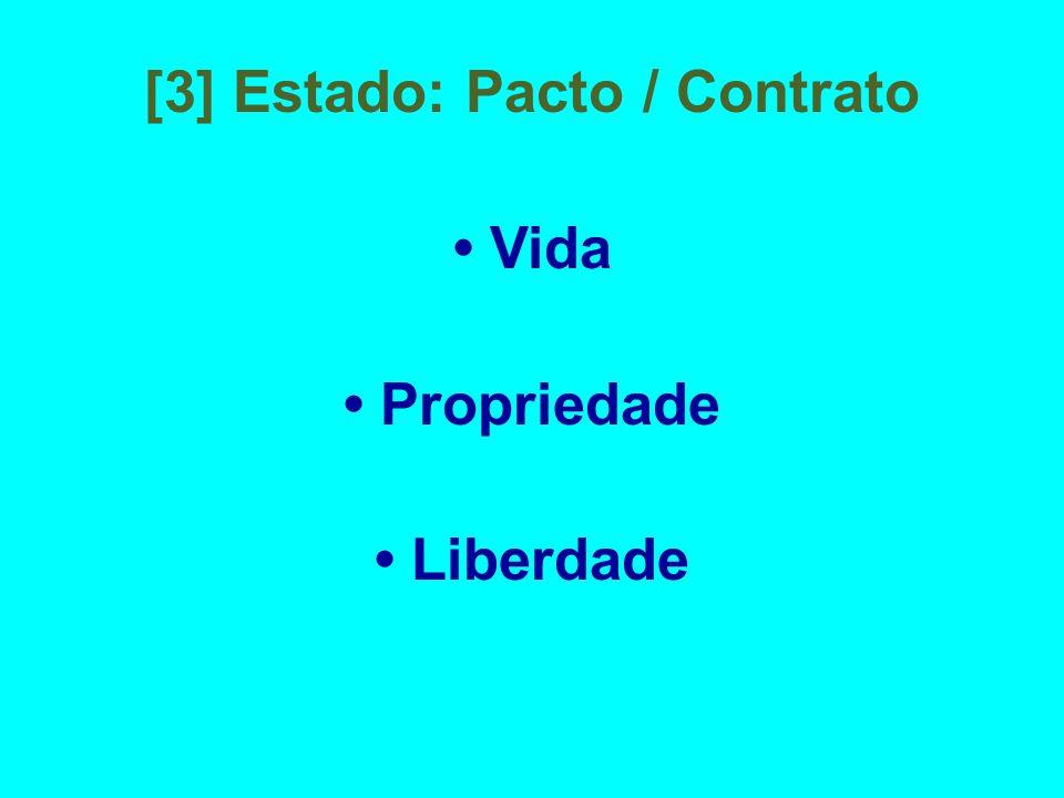 [3] Estado: Pacto / Contrato Vida Propriedade Liberdade