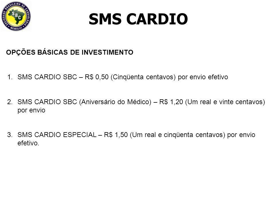 SMS CARDIO MAIORES INFORMAÇÕES SETOR COMERCIAL DA SBC comercial@cardiol.br Site: www.cardiol.brwww.cardiol.br Contatos: Rodolfo Vieira – Gerência Comercial Ederson Oliveira edersonoliveira@cardiol.br Tel.: (11) 3411 5522 / 3411 5525 Cel.: 7642-9815 Alameda Santos, 705- 11º Andar - Cerqueira César - CEP 01419-001 – São Paulo – SP