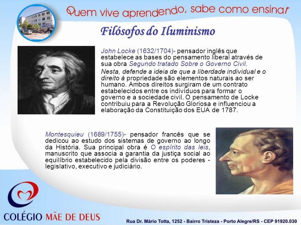 John Locke (1632/1704)- pensador inglês que estabelece as bases do pensamento liberal através de sua obra Segundo tratado Sobre o Governo Civil. Nesta