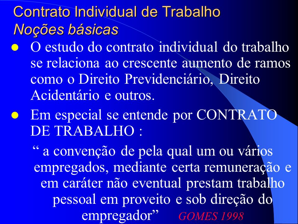Contrato Individual de Trabalho Sujeitos Empregado e empregador 1 – Empregado Art.