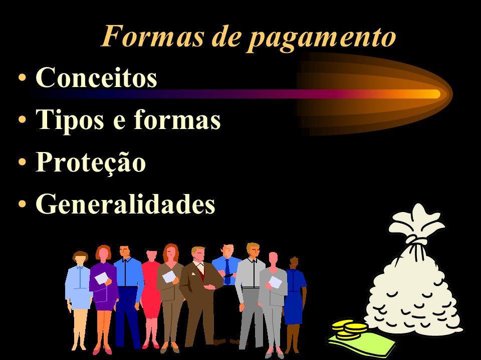 Formas de pagamento Conceitos Tipos e formas Proteção Generalidades