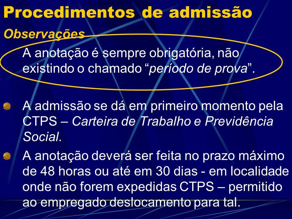 Particularidades - Prazo Contrato especial – Lei 9601/98 Observações Opera quando as admissões representem acréscimo no número de empregados.
