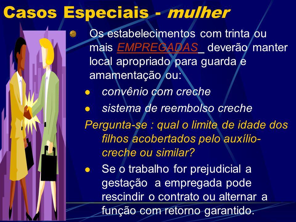 Casos Especiais - mulher Fim de várias proibições discriminatórias com o advento da CF 1988.