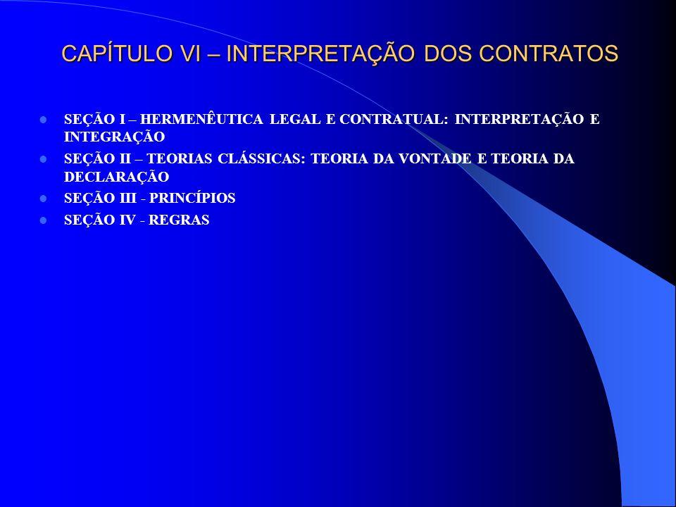 CAPÍTULO VI – EXTINÇÃO E REVISÃO DOS CONTRATOS SEÇÃO I - EXECUÇÃO SEÇÃO II –RESILIÇÃO: VONTADE DAS PARTES § 1° - RESILIÇÃO BILATERAL OU DISTRATO § 2° - RESILIÇÃO UNILATERAL SEÇÃO III – RESOLUÇÃO E IMPLEMENTO DE CLÁUSULA RESOLUTIVA SUBSEÇÃO I – CONCEITUAÇÃO DE RESOLUÇÃO § 1° - EVOLUÇÃO HISTÓRICA § 2° - EVOLUÇÃO NORMATIVA § 3° - DEFINIÇÃO SUBSEÇÃO II - CLÁUSULA RESOLUTIVA § 1° - CLÁUSULA RESOLUTIVA TÁCITA: O INADIMPLEMENTO § 2° - CLÁUSULA RESOLUTIVA EXPRESSA I – INADIMPLEMENTO VOLUNTÁRIO II – INADIMPLEMENTO INVOLUNTÁRIO SUBSEÇÃO III - EXCEÇÃO DE CONTRATO NÃO CUMPRIDO SEÇÃO IV – A REDIBIÇÃO COMO MODALIDADE (EXTINTIVA) DE RESOLUÇÃO SEÇÃO V – RESOLUÇÃO (OU REVISÃO) E ONEROSIDADE EXCESSIVA SEÇÃO VI – CESSAÇÃO POR MORTE SEÇÃO VII – EXERCÍCIO DO DIREITO DE ARREPENDIMENTO SEÇÃO VIII – FALÊNCIA