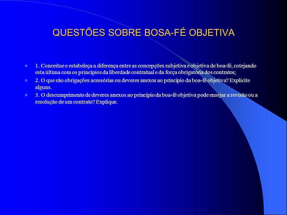 CAPÍTULO II – PRINCÍPIOS FUNDAMENTAIS SEÇÃO II - PRINCÍPIO DA EQUIDADE CONTRATUAL OU EQUILÍBRIO CONTRAPRESTACIONAL E SEUS COROLÁRIOS § 1º - EQUIDADE E LESÃO CONTRATUAL I - CONCEITUAÇÃO II - DIREITO POSITIVO A - NORMAS SOBRE USURA B - CÓDIGO DE DEFESA DO CONSUMIDOR C - CÓDIGO CIVIL DE 2002 III - ELEMENTOS A – OBJETIVO: PRESTAÇÃO MANIFESTAMENTE DESPROPORCIONAL B – SUBJETIVO: PREMENTE NECESSIDADE OU INEXPERIÊNCIA C – TEMPORAL: CONTEMPORANEIDADE IV - EFEITOS V - BIBLIOGRAFIA ESPECÍFICA V - QUESTÕES