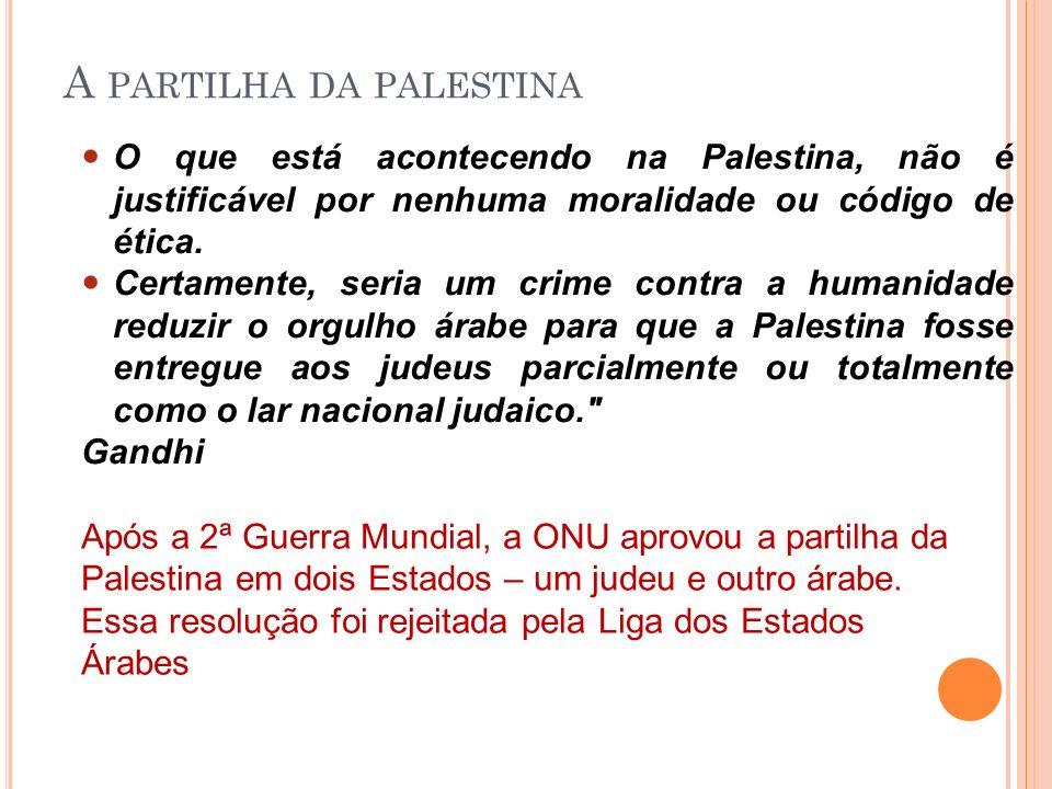 O que está acontecendo na Palestina, não é justificável por nenhuma moralidade ou código de ética. Certamente, seria um crime contra a humanidade redu