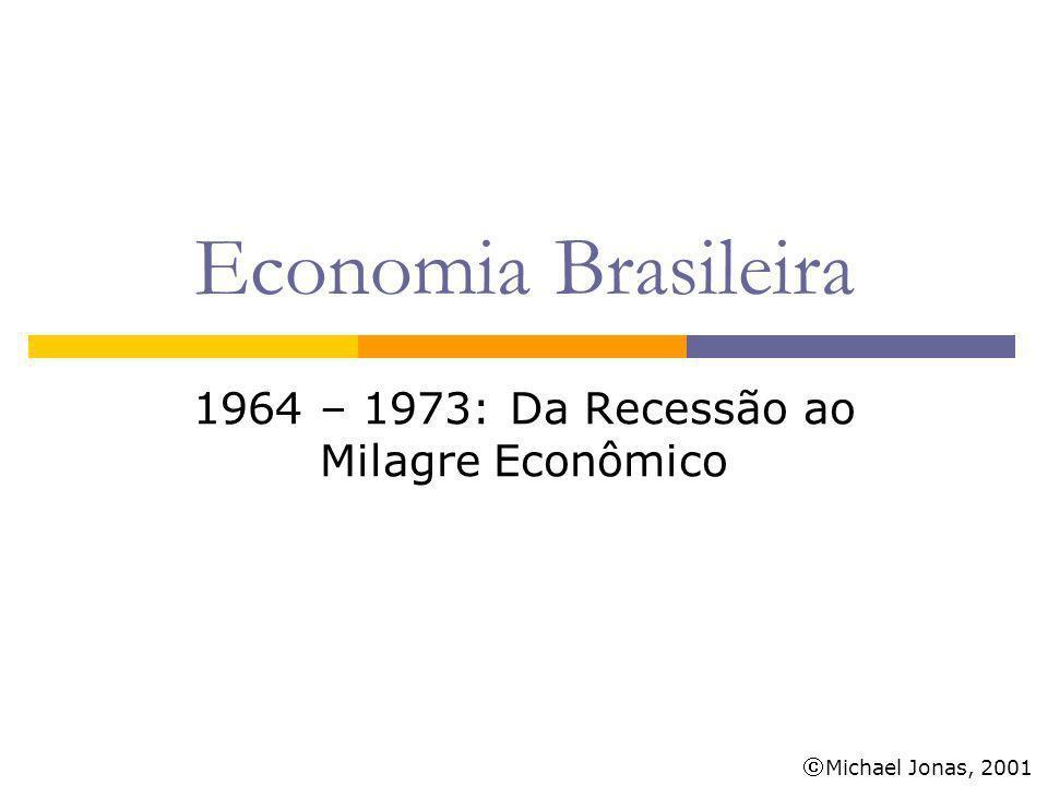 Michael Jonas, 2001 Economia Brasileira 1964 – 1973: Da Recessão ao Milagre Econômico