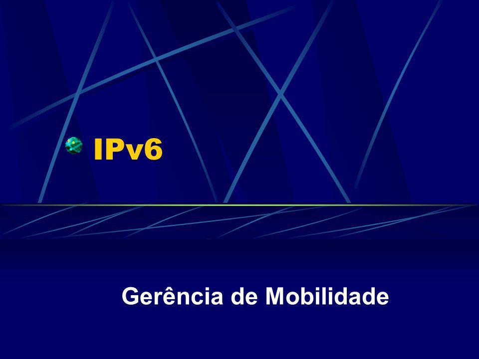 IPv6 Gerência de Mobilidade