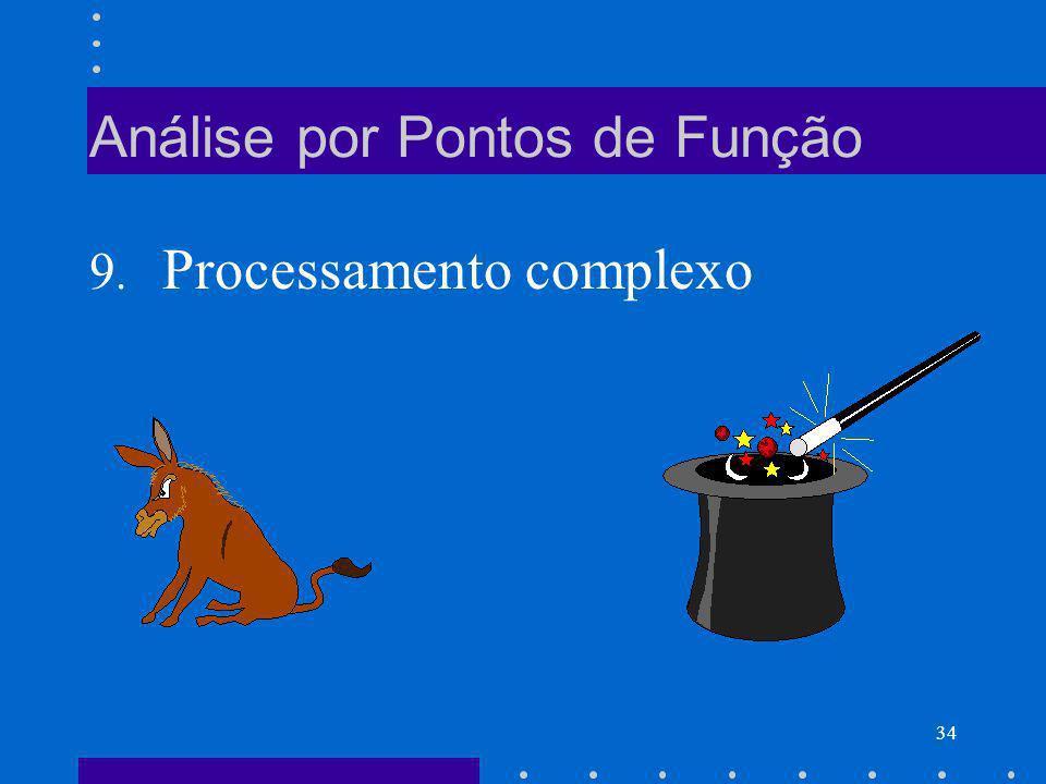 34 Análise por Pontos de Função 9. Processamento complexo