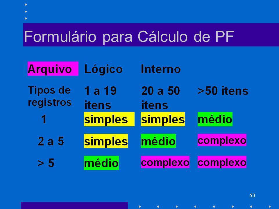 53 Formulário para Cálculo de PF