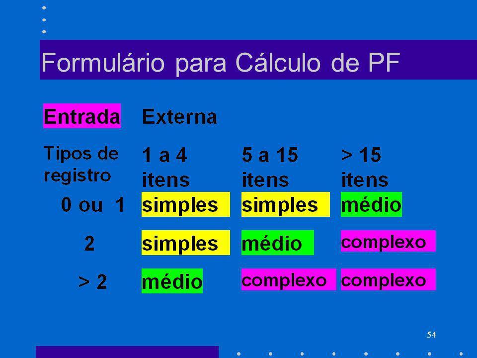 54 Formulário para Cálculo de PF