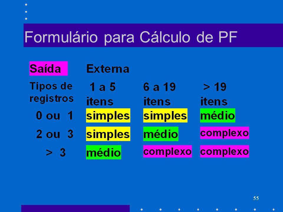 55 Formulário para Cálculo de PF