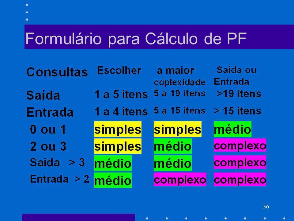 56 Formulário para Cálculo de PF