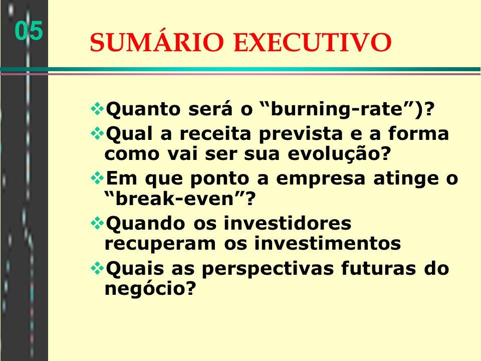 05 PLANEJAMENTO FINANCEIRO Pressupostos importantes para fazer os planos financeiros e as justificativas de adotá-los.